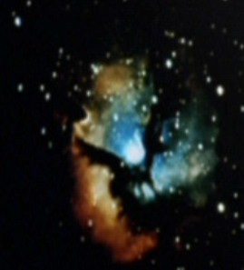 Image of the Trifid Nebula in Voyager's Astrometric Lab