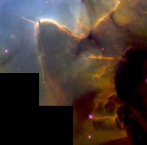 stellar jets in the Trifid Nebula