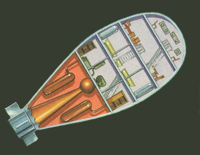 Tsiolkovsky design for a manned spacecraft