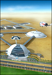 Artist's impression of UAE spaceport