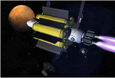 hypothetical future spacecraft to Mars powered by VASIMR engines