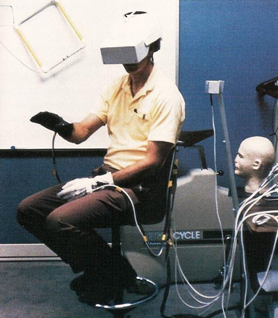 virtual reality headset and dataglove