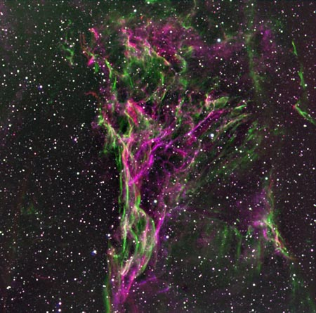 Pickerings Triangle in the Veil Nebula
