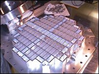 Stardust's collector trays containing aerogel