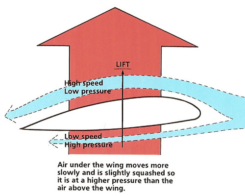 How the shape of a wing, or airfoil, creates lift