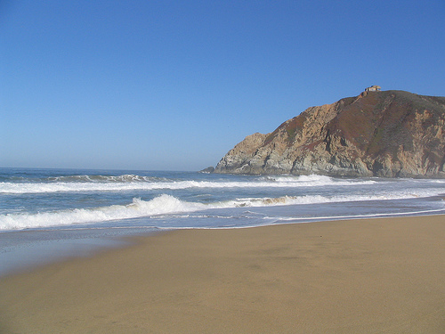 sandy beach in California