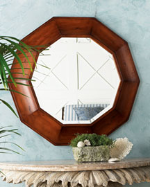 decagon-shaped mirror