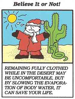 clothing in the desert