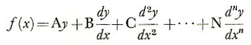 nth-order differential equation
