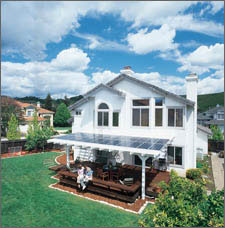 home equipped with a solar electric system