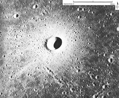 ejecta blanket surrounding the crate Linne on the Moon