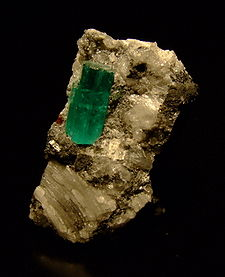 Emerald crystal from Muzo, Colombia