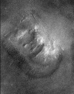 Mars 'face' from Mars Global Survyeor
