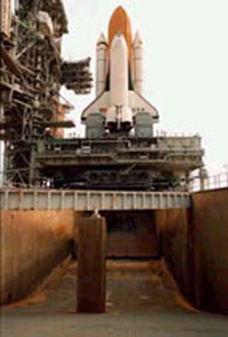 Space Shuttle flame deflector system