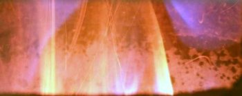 photo of the flame in Redmond's green wood chip furnace