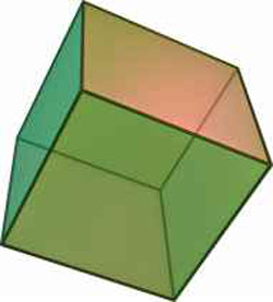 regular hexahedron (cube)