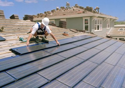 installing solar roof panels