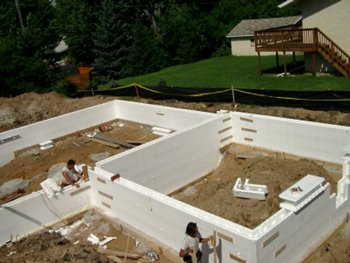 Foundation types for Foam basement forms