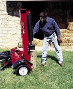 log splitter, vertical operation
