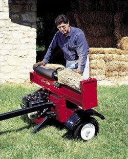 log splitter, horizontal operation