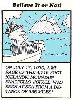 mirage of Snaefells Jokull
