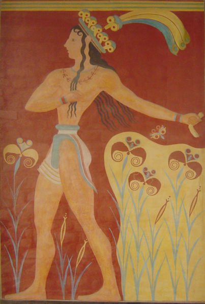 Priest-king fresco at Knossos