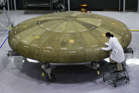 Prototype heat shield for NASA's Orion Crew Exploration Vehicle project