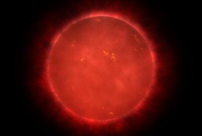 artist's impression of a red dwarf