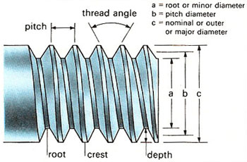 labeled diagram of a screw
