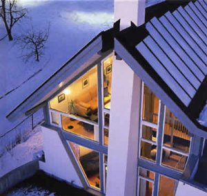 solar heated house
