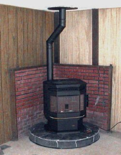 wood stove and stove pipe