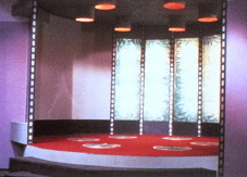 transporter pad of the  starship Enterprise Trek transporter