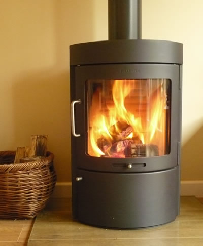 wood stove of contemporary design by hwam also called a wood burning