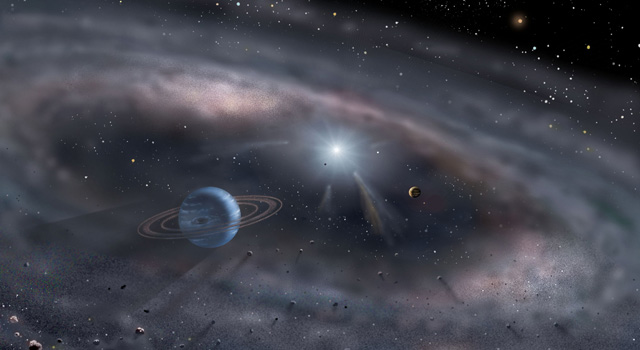 Artist's impression of a young planetary system