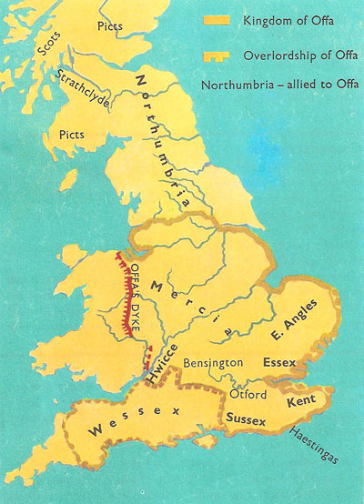 Britain at the time of Offa
