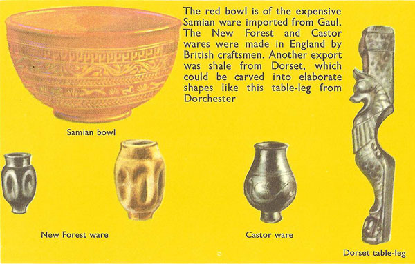 Various Roman artefacts found in Britain
