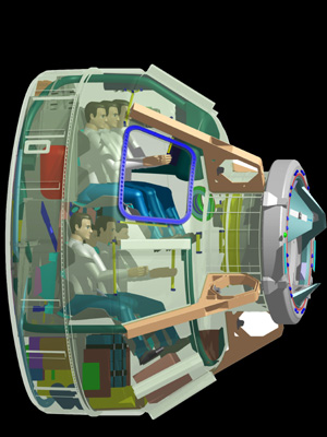 Cutaway view of the CST-100