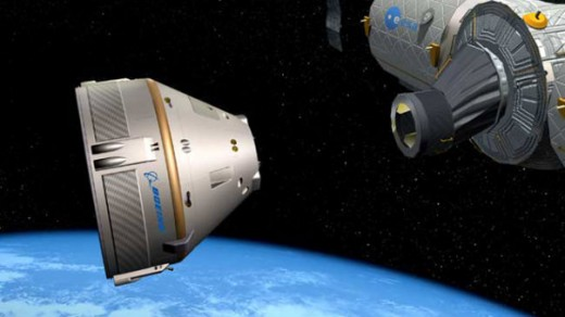 Rendering of the CST-100 docking with the ISS