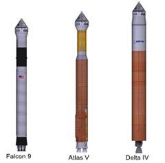 CST-100 potential launch vehicles