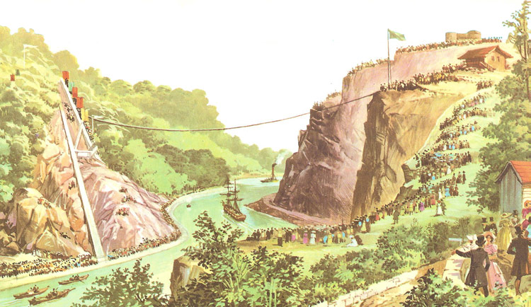 construction of the Clifton Suspension Bridge