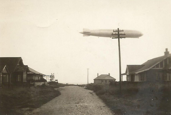 Graf Zeppelin flying over Peacehaven, England