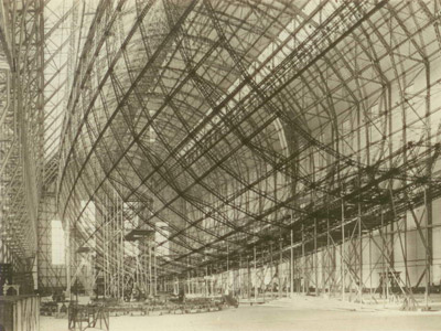 Thirty-nine duralumin rings attached to lateral girders formed the lightweight but strong 803-foot-long framework of the Hindenburg