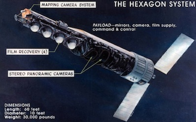 Diagram describing the major components of the KH-9 satellite. Credit: NRO