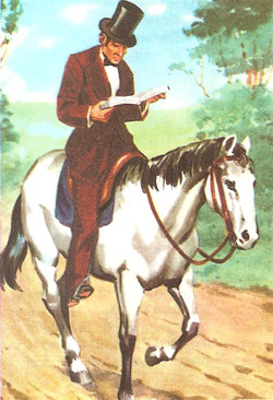 Lincoln,        a circuit lawyer, rode from town to town on horseback