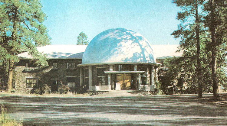 The main building at the Lowell Observatory