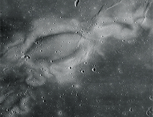light-colored regions on the Moon