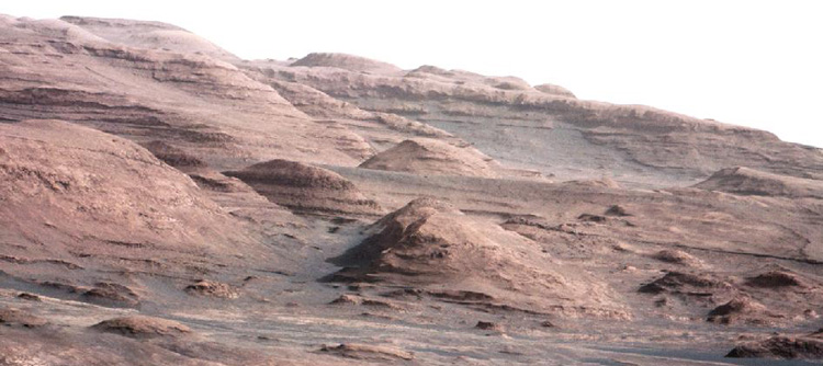 Layers of rock on Mount Sharp