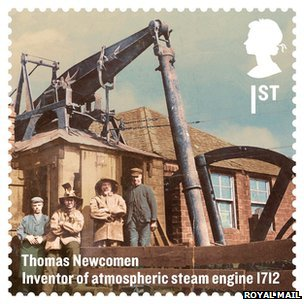 Newcomen's invention was depicted on a UK commemorative stamp issued in 2012