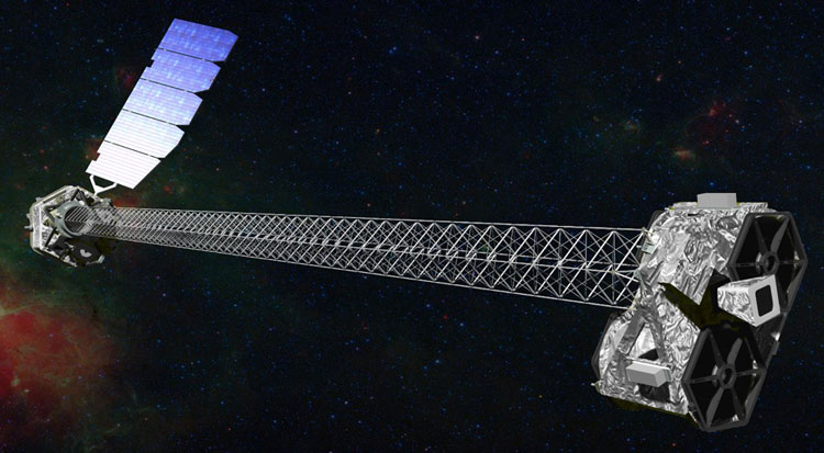 NuSTAR on orbit, artist's rendering
