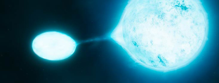 An O star losing mass to its 'vampire' companion